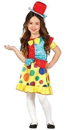 Fancy Me Mädchen Verspielt Circus Clown Entertainer Gepunktet Mehrfarbig Lustig TV Kostüm Kleid Outfit 3-9 Jahre - 5-6 Years (Kinder Circus-kostüme Für)