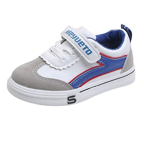 Turnschuhe für Unisex-Kinder/Dorical Junge Mädchen Babyschuhe Casual Sneaker Laufschuhe Sportschuhe Outdoor Runningschuhe Atmungsaktiv Wanderschuhe Freizeitschuhe 21-36 EU(Blau,34 EU) -