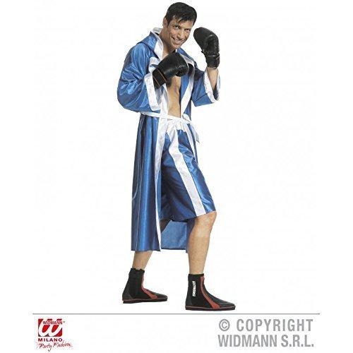Kostüm monumentaler Boxer / Boxmantel / Boxerkostüm in blau Gr. S = 48