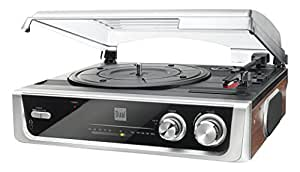 Dual MTR10 Twin Speed Turntable with Built In Speakers and FM Radio - Black/Silver