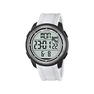 Calypso–Reloj Digital Unisex con LCD Pantalla Digital Dial y Correa de plástico Color Blanco k5704/5