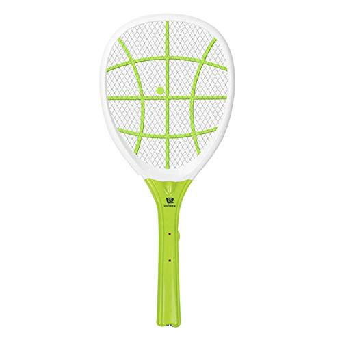 Chlry Raqueta Matamoscas Electrico Mata Moscas Mosquitos, USB Recargable luz LED para Interiores y Exteriores - Anti Mosquitos Interiores Mata Mosquitos electrico Exterior Interior zancudo Repelente