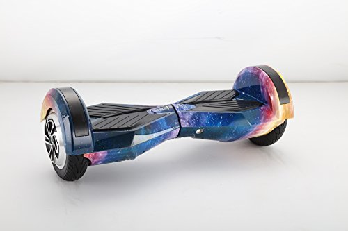UNITED TRADE Hoverboard Elettrico Monopattino Elettrico Autobilanciato Overboard, Balance Scooter Skateboard con Luci LED & Bluetooth,8 Pollici Galaxy No.20 con Certificazione UL 2272, Confezi.Regalo