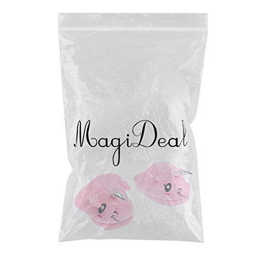 MagiDeal Chausson Licorne Femme Homme Chauffant Rose