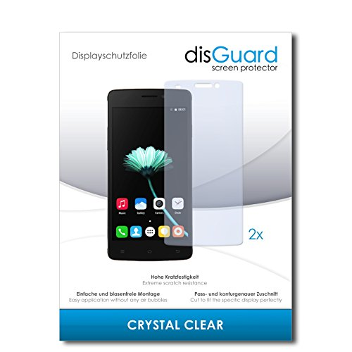 disGuard® Bildschirmschutzfolie [Crystal Clear] kompatibel mit Cubot X12 [2 Stück] Kristallklar, Transparent, Unsichtbar, Extrem Kratzfest, Anti-Fingerabdruck - Panzerglas Folie, Schutzfolie