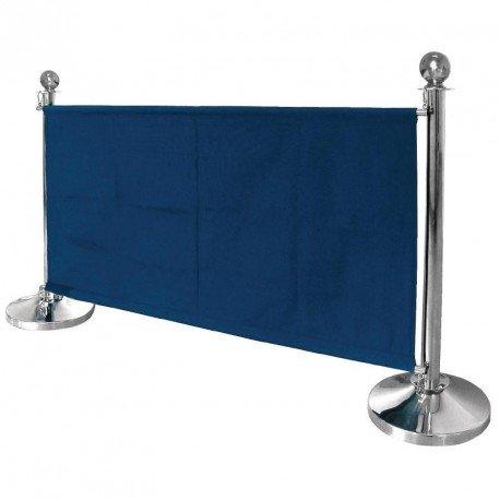 Bolero dl480Banner mit Edelstahl Befestigungen, dunkelblau -