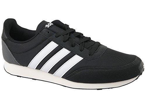 adidas V Racer 2.0, Zapatillas Para Hombre, Negro (Core Blacksolar Redfootwear White 0), 42 EU