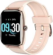Smartwatch Donna, Orologio Fitness Tracker Impermeabile IP68 Cardiofrequenzimetro Sonno Monitoraggio Salute Fe