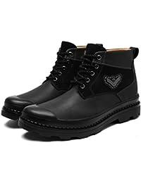 TOOGOO (R) Uomo Casual Inverno Scarpe Alte Calde In Velluto Stivali impermeabili Sneakers Marrone scuro?��US 9.5/UK 9/EUR VWIJYR