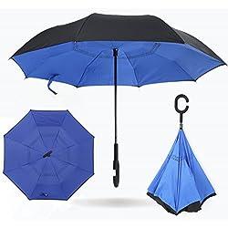 Paraguas reversible protección rayos UV