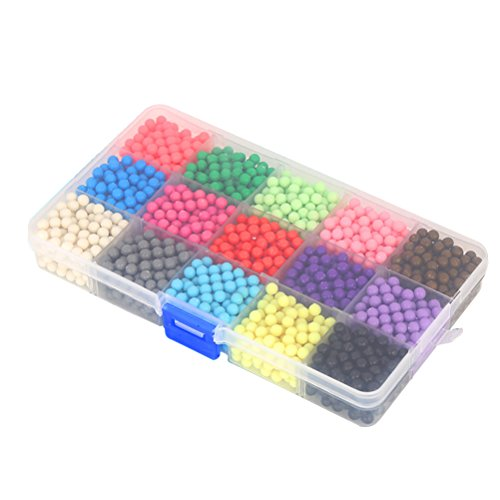 15 Parts Colorful Water Spray Beads Set Sticky Perler Beads Art Crafts Toys for Kids Children