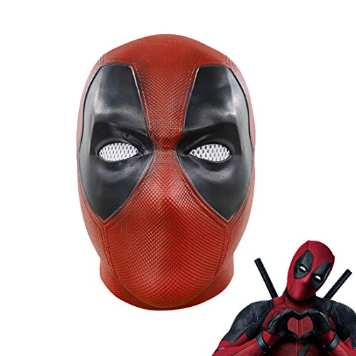 Hpparty Deadpool Maske, Film, Cosplay, Halloween-Kostüm, Replik Latex Mask (Replik Kostüm)