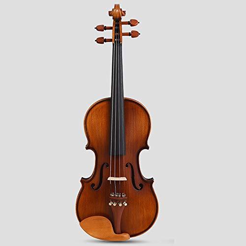 Miiliedy dolce violoncello legno fatto a mano per adulti principiante bambino pratica professionale strumento violino scatola inclinante, corde extra, arco, mento appoggiato, colofonia