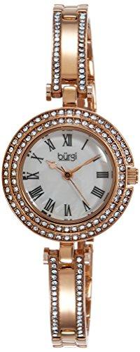 4105F2Gl2LL - Burgi Mother Of Pearl Women BUR108RG watch