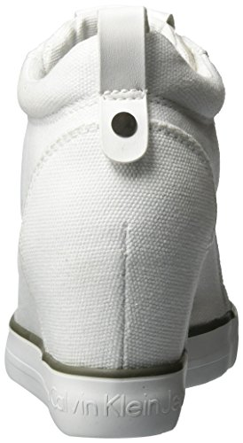 Calvin Klein Jeans Ritzy Canvas, Baskets Femme Blanc (White)