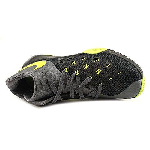 Nike Herren Zoom Hyperquickness 2015 Basketballschuhe, Talla Schwarz / Grün / Grau (Black / Volt-Dark Grey)
