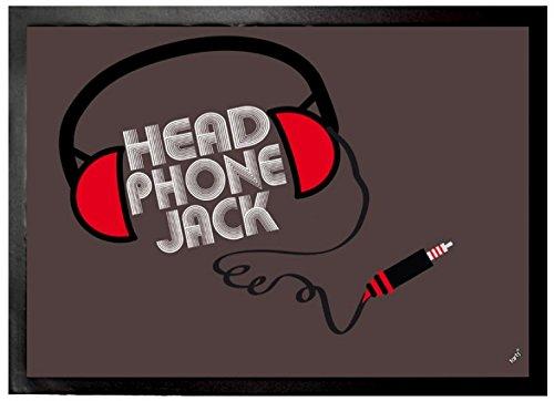 Felpudos Música Headphone Jack Felpudo Alfombrilla (70 x 50cm)