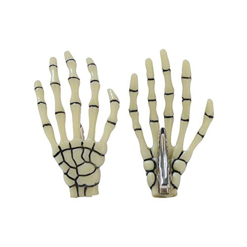 and Haarspange Officially Licensed Merchandise Haarklammer Halloween Fasching Mottoparty Frankenstein Cosplay Hand Glow (84132-009-0000) (Frankenstein Halloween-maske)