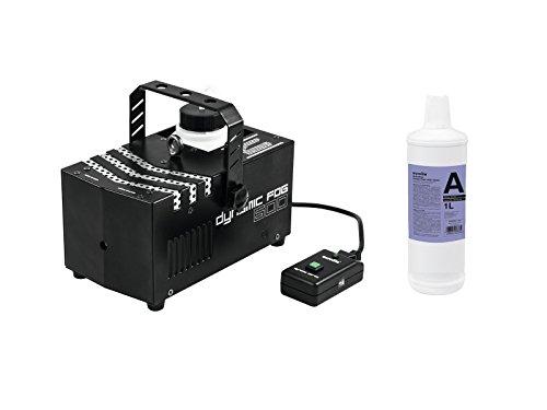 showking - Nebelmaschine DFO600 230V / 600W, Aufwärmzeit 100s, Ausstoßvolumen ca 170m³/Min. + 1L Fluid mit kurzer Standzeit und geringer Dichte - Nebel Maschine