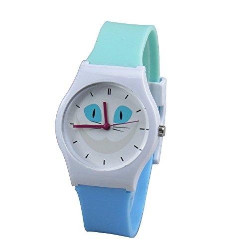 Leaders Kinderuhr einfach lesen Quarzuhr mit weichem Silikon Armband Armbanduhr komfortabel für Kinder Uhren jungen Mädchen Armbanduhren