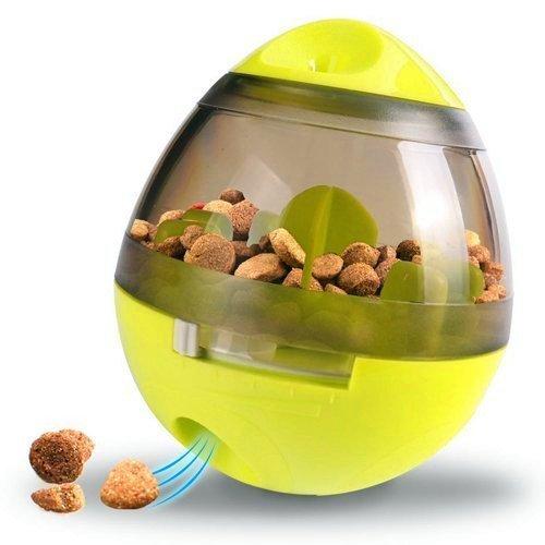 Neutral Hunde Futterspender, Haustier Futter Feeder für Hunde und Katzen, IQ-Training & Interaktive Zuführung (Grün)