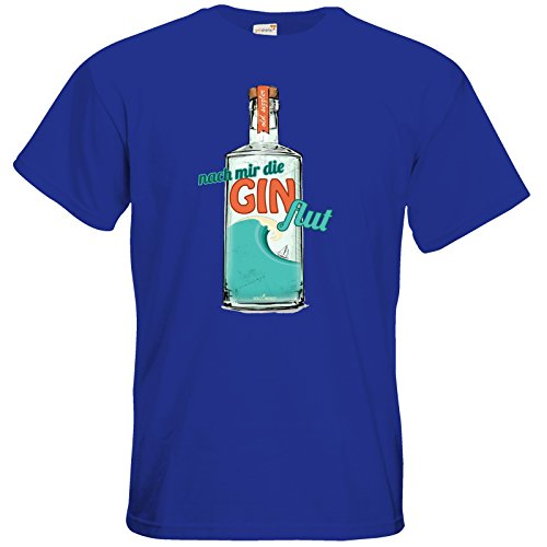 getshirts - SizzleBrothers Merchandise Shop - T-Shirt - SizzleBrothers - Grillen - Gin - Ginflut Royal Blue