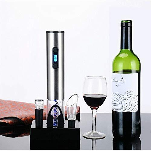 Flaschenöffner Elektrischer Weinflaschenöffner mit wiederaufladbarer Basis, Vakuumverschluss, Folienschneider und Weinausgießer für Bar-Party-Trinkspiel