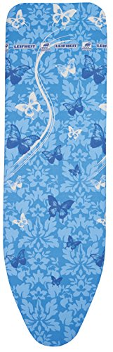 Leifheit 72263 Air Board Thermo Reflect L VS Housse pour Table à Repasser, plastique, Butterflies Bleu, 130 x 45 x 1 cm