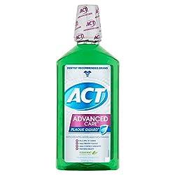 ACT Advanced Care Plaque Guard Clean Mint Antigingivitis/Antiplaque Mouthwash, 33.8 fl oz