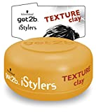 Schwarzkopf Got2b iStylers Texture Clay (75ml) - Pack of 6 by Schwarzkopf