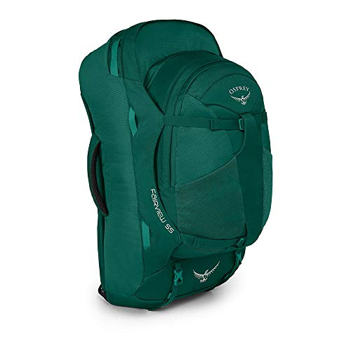 Osprey Fairview 55 Women's Travel Pack with 13L Detachable Daypack - Rainforest Green (WS/WM)