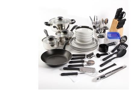Essential Home Total Kitchen Cookware, Utensil 83 Pc Combo Set by Gibson