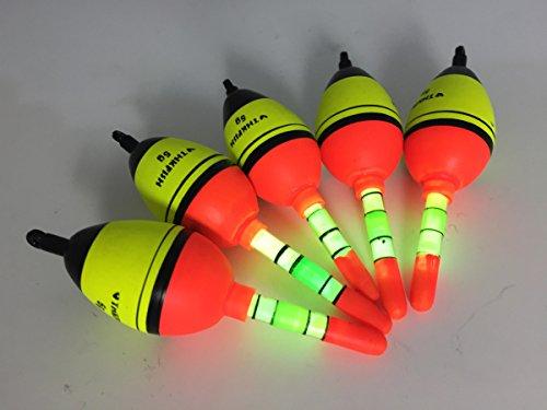 5 Stück 5g EVA THKFISH Posen Angeln + 10 Stück Knicklichter posen angeln Sbirolinos set Beleuchtung Schaum posenset
