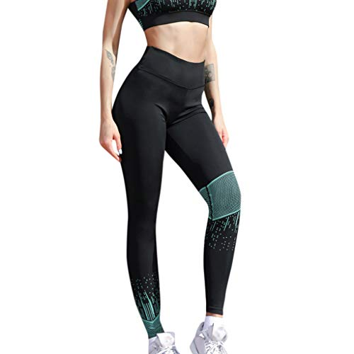 SHOBDW Pantalones Mujer Casual Cintura Alta Patchwork Athletic Yoga Flaco  Negro Imprimir Fitness Entrenamiento Gimnasio Capri 16940a5d3ebc