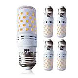 4x Lampaous E27 Gewinde LED Maiskolben Birne 12W Leuchtmittel Energiesparlampe Mais Licht SMD LEDs, Ersatz für 100W Glühlampe, Warmweiß 3000K 850LM Flimmerfrei 360° Abstrahlwinkel, Super Hell