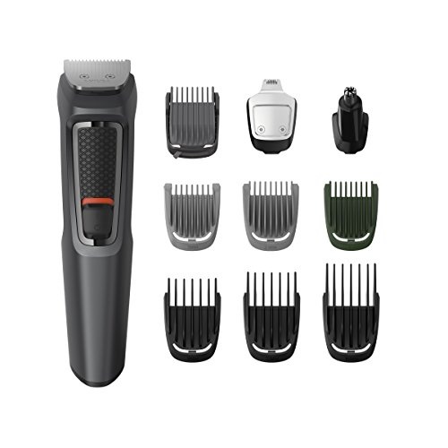 Philips Series 3000 10-in-1 Multi Grooming Kit for Beard, Hair and Body with Nose Trimmer Attachment - MG3747/33 Best Price and Cheapest