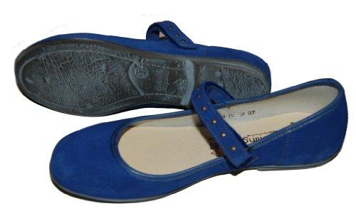 Helgas Modewelt , Chaussures de ville à lacets pour fille Bleu - blau (Turino lake)