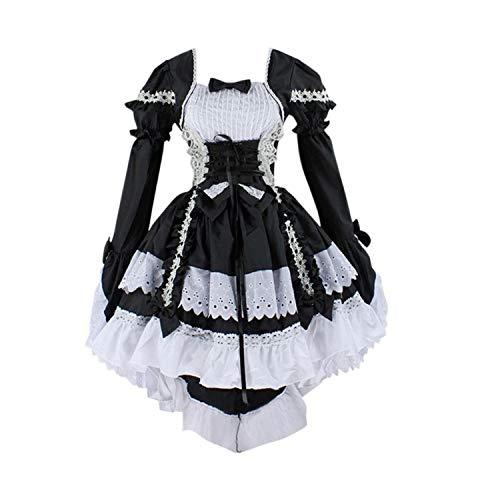 Perücken Puppe Kostüm - LATH.PIN Damen Cosplay Kostuem Lolita gotische Kleider Abendkleider Partykleid