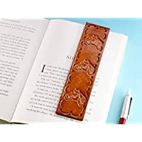 Horses Head Brown Hand Tooled Leather Bookmark