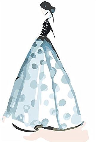 YEESAM ART Neuerscheinungen Malen nach Zahlen für Erwachsene Kinder - Ziemlich Wedding Dress Hochzeitskleid Abendkleid 16 * 20 Zoll Leinen Segeltuch (Mit Rahmen, Kleid (Ziemlich Weihnachten Kleider Für Mädchen)