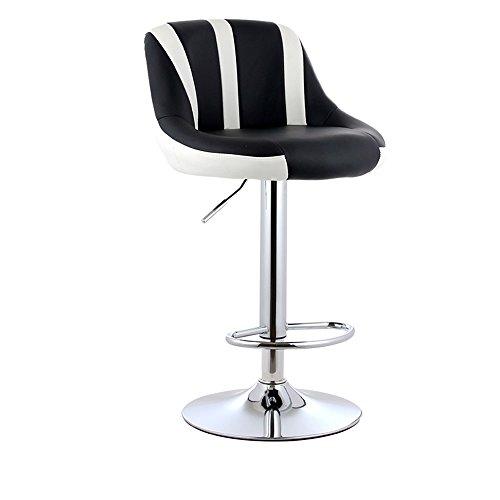 WYGG China-Möbel Hoher Schemel-Stab-Küche-Frühstück, der Stuhl speist, kann auf und ab Schwenk-Stuhl mit PU-Leder-Rückenlehne-einfachem Handy-Shop-Schemel-Stuhl aufheben /& (Farbe : A) - Schwenk Hoch Hocker