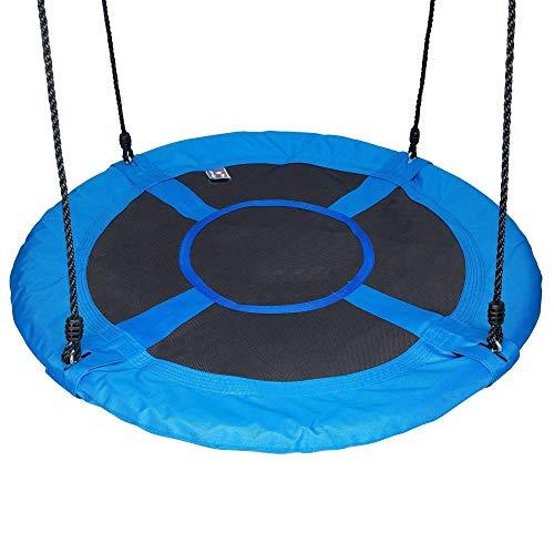 WYYF Disc Giant Nest Web Seil Hängenden Baum Schaukelsitz Set Heavy Duty Einfach Einzurichten Für Kinder Kinder Erwachsene Im Freien Hinterhof Garten
