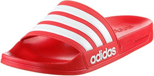 adidas Herren Cloudfoam Adilette Badeschuhe, Rot (Scarlet/Footwear White/Scarlet), 40.5 EU