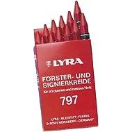 Signierkreide 12mm rot sechseckig