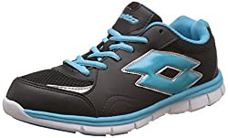 Lotto Mens Dolcevita Jr Black and Royal Running Shoes - 4 UK/India (38 EU)