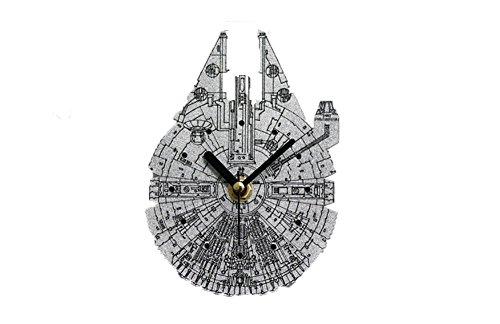 Kühlschrank Aufkleber Uhr 3D Stereo Star Wars Millennium Spitzname Raumschiff Kreative Aufkleber Uhr Mute Nachricht Aufkleber Magnetische Saug Wanduhr
