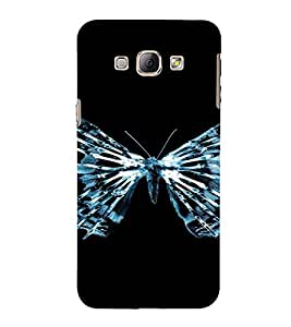 PrintVisa Butterfly Design 3D Hard Polycarbonate Designer Back Case Cover for Samsung Galaxy A8