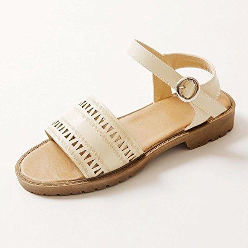 Studenti di Velcro con scarpe basse/ peep-toe scarpe piatte casual/Trafitto donne sandali A