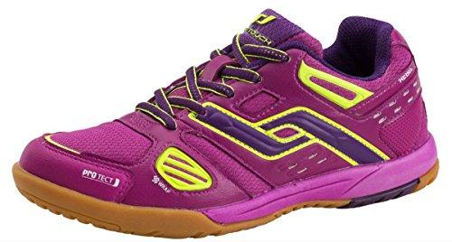Pro Touch Kinder Hallenschuhe Sportschuhe Rebel JR. vers. Farben, Schuhgröße:38;Farbe:Pink Dark/Purple/Yellow
