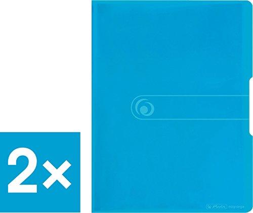 Herlitz Sichtbuch PP A4/40 (2 Stück, transparent blau)